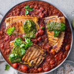 North African Chermoula with pork Chops and Green harissa