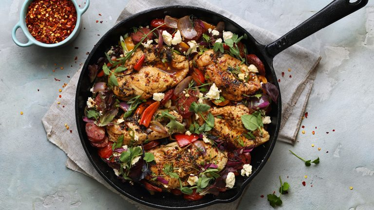 Spanish Chicken and Chorizo Bake