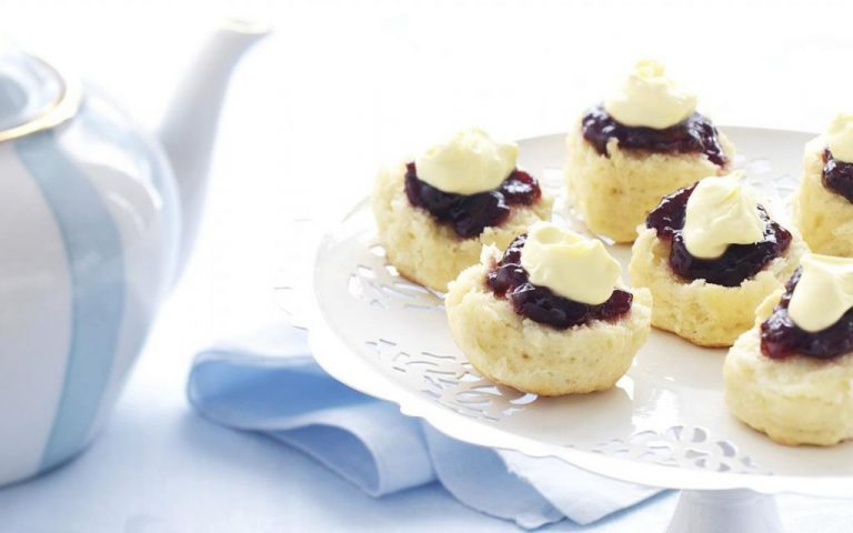 Classic Scones With Jam & Cream