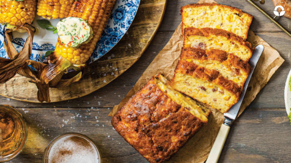 Cheesy Sweetcorn and Bacon Bread