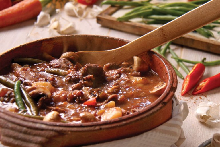Beef & Prune Casserole with Red Wine