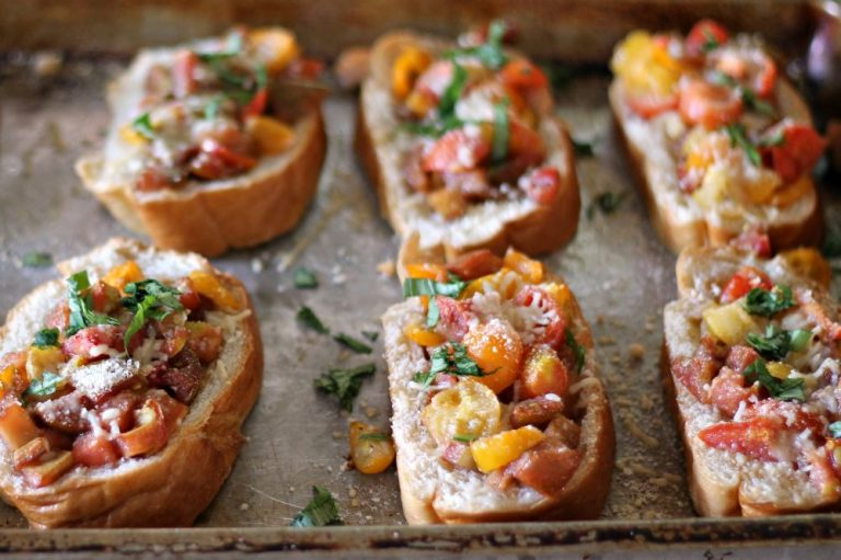 Garlic Loaf Bruschetta
