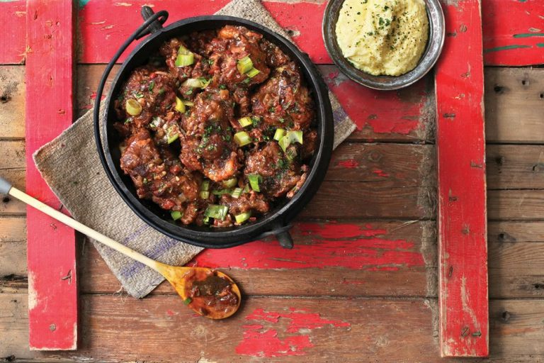 Oxtail & Bacon Potjie