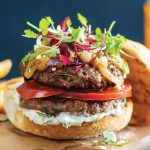 Greek burger lamb