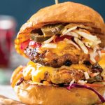 Spicy jalepeno burgers with slaw