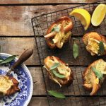 Pepper-Buttered Toast with Pear Brie