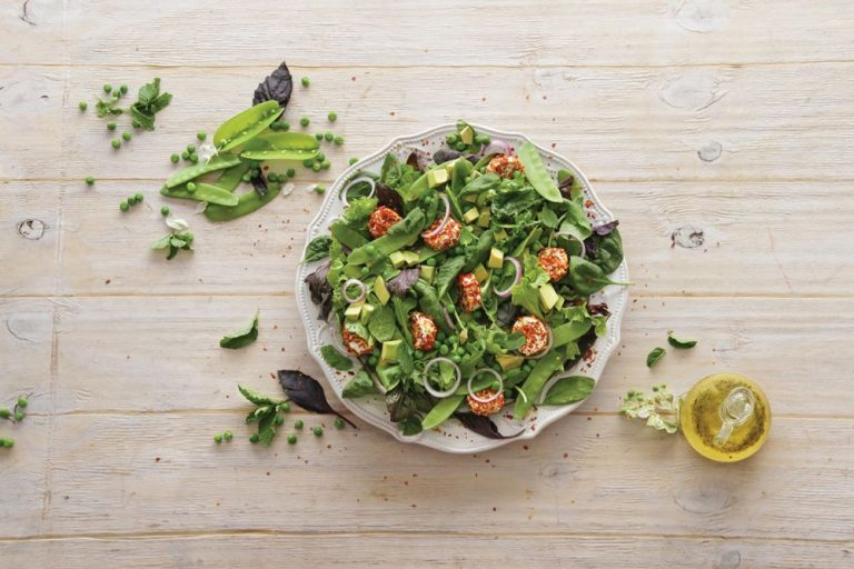 Sugar Snap, Mint & Goat's Cheese Salad