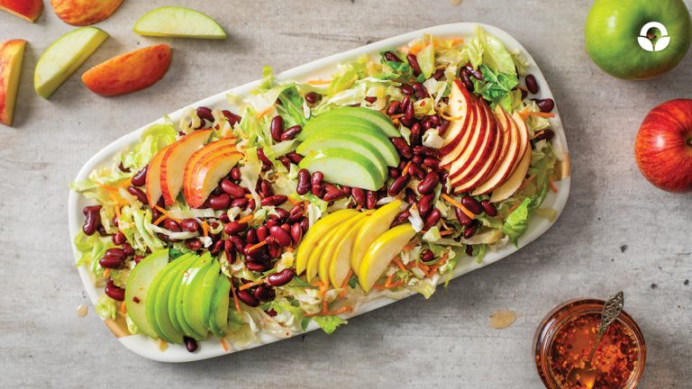 Apple Salad with a Warm Spicy Dressing