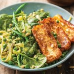 Easy Green - Spinach Pasta with Gremolata & Halloumi