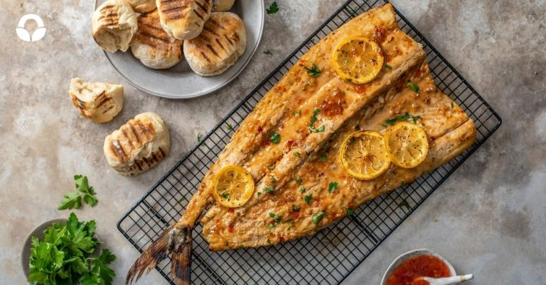 Braai Snoek with an Apricot and Sherry Glaze and Roosterkoek