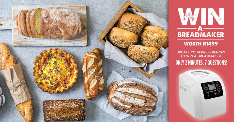 Win a bread maker with food consultant, Bits Of Carey and the #LoveFoodMovement.
