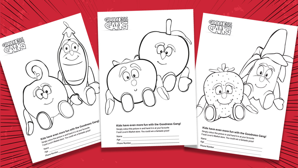 Free downloadable goodness gang colouring in sheets food lovers free downloadable forumfinder Gallery