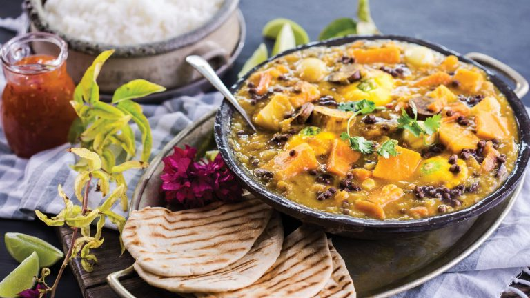 BUTTERNUT AND ROOT VEGETABLE COCONUT CURRY