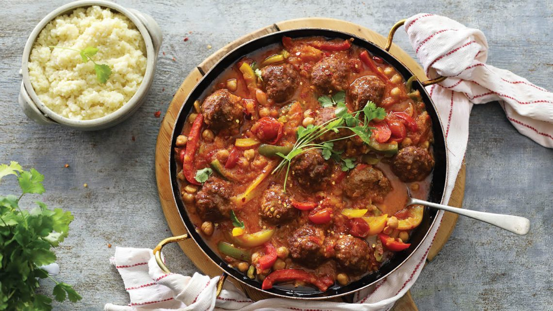 Moroccan Meat Balls with Vegetable Stew and Couscous
