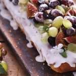 Grape and lemon loaf with frosting