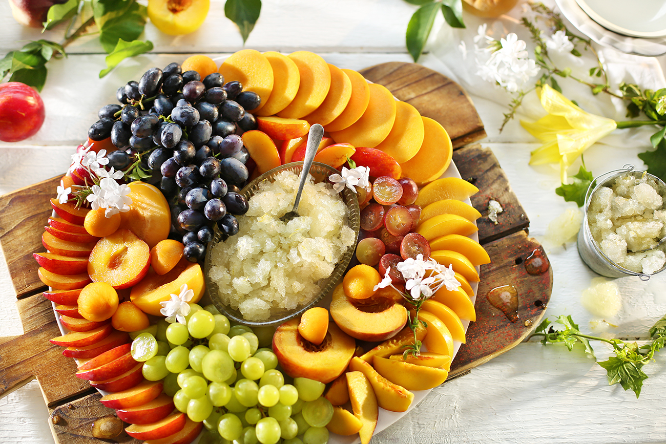 Summer fruit platter with lemon and vanilla granita food lovers market by food lovers market forumfinder Choice Image