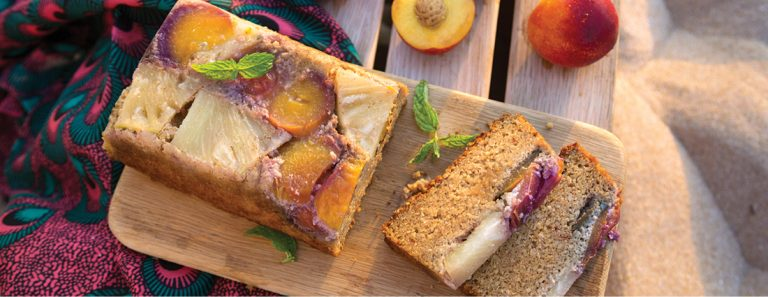 Sarah Graham's Sticky Pineapple and Nectarine Cashew Nut Cake