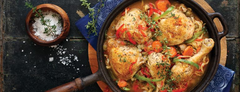 CHICKEN AND VEGETABLE POTJIE