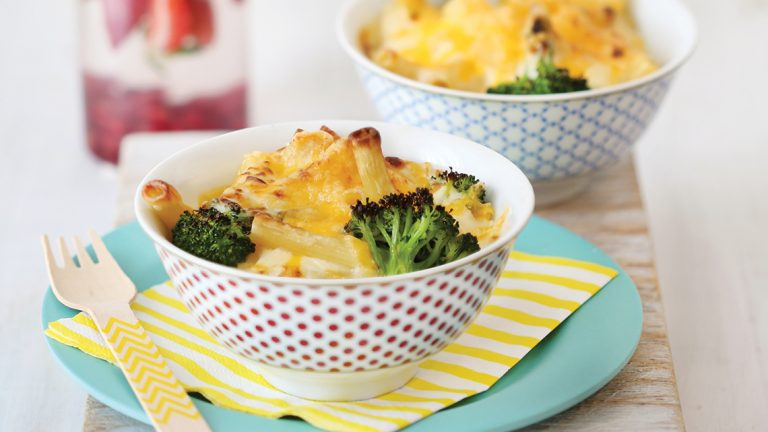 Mac and Cheese Bowls with Broccoli