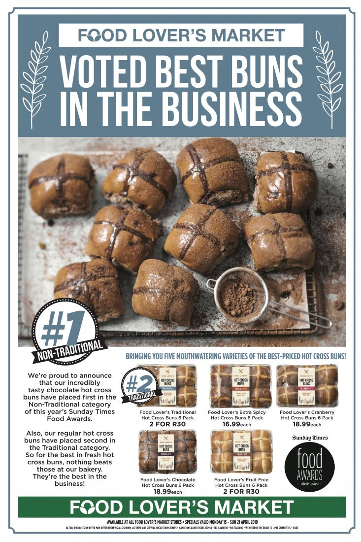 Best Hot Cross Buns in the Business 2019