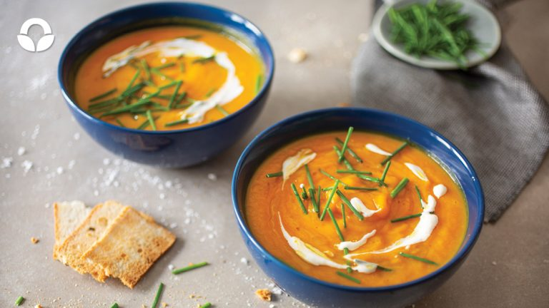Butternut, Sweet Potato and Ginger Soup