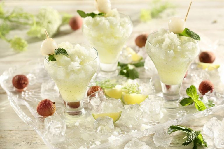 Litchi And Mint Granita