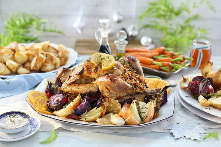 Orange Marmalade Roast Turkey with Christmas Stuffing