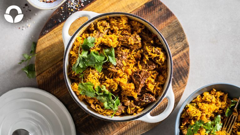 Quick and Easy Lamb & Spicy Rice