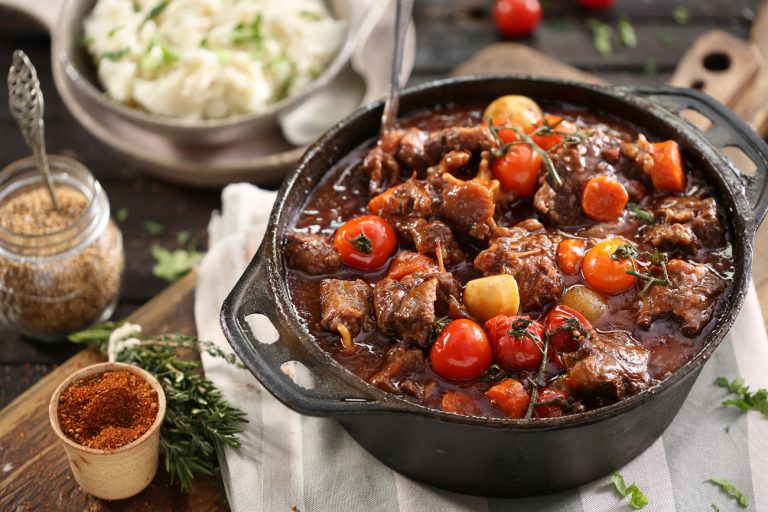 OXTAIL POTJIE WITH ROASTED CHERRY TOMATOES