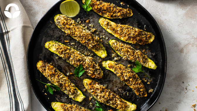 Tender Baby Marrows with a Crispy Parmesan Crust