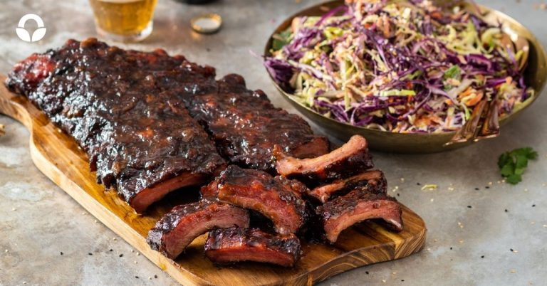 Our Pork Loin Ribs with Coleslaw
