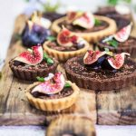 CHocolate Ganache Tart with Roasted Figs
