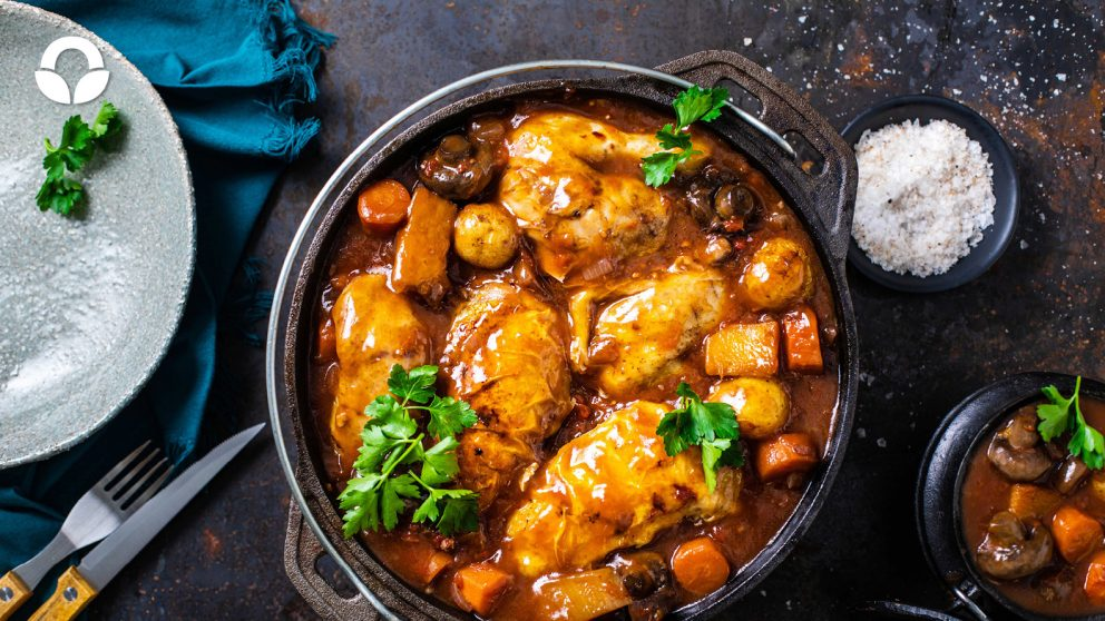 Red Wine Chicken Potjie