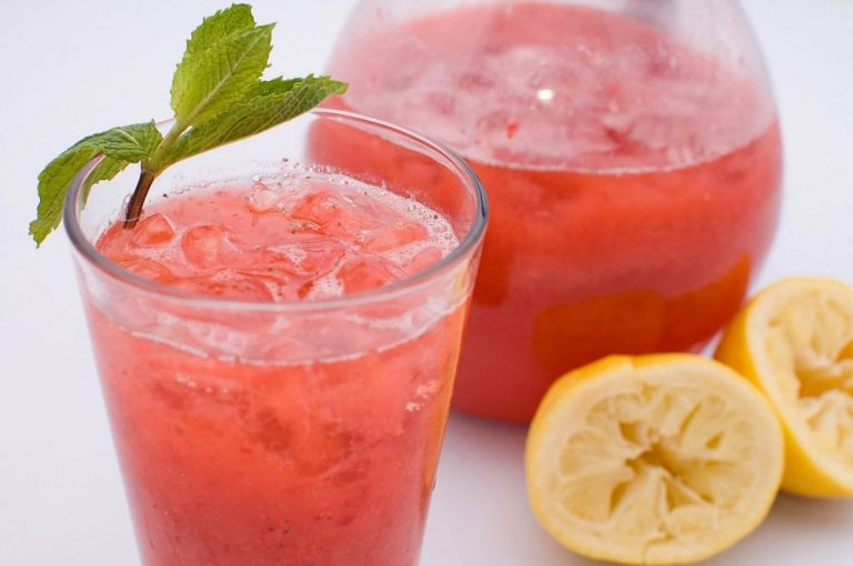 Refreshing Coconut Water Pink Lemonade