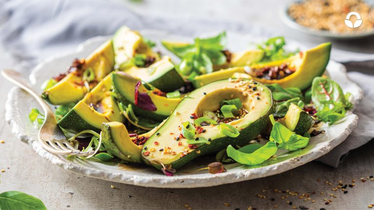 Avocado Salad with Spicy Worcestershire Dressing