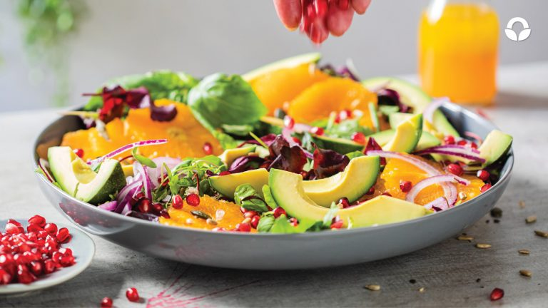 Avocado, Naartjie and Pomegranate Salad
