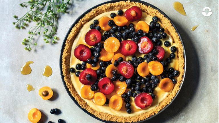 Stone Fruit and Blueberry Custard Tart