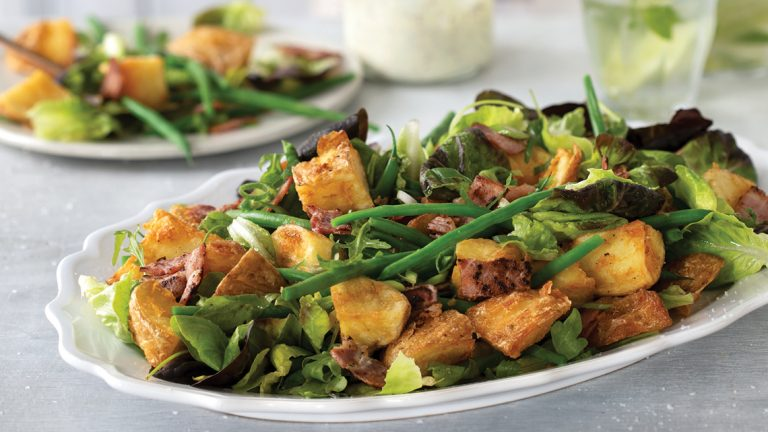 Crispy Potato Salad with Green Beans and Tangy Mayo