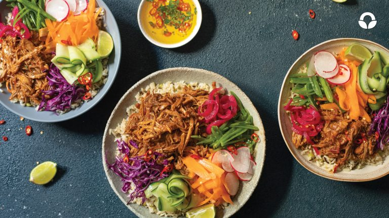 Asian-style Pulled Pork Bowls