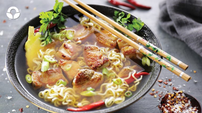 Asian Broth with Pork and Noodles