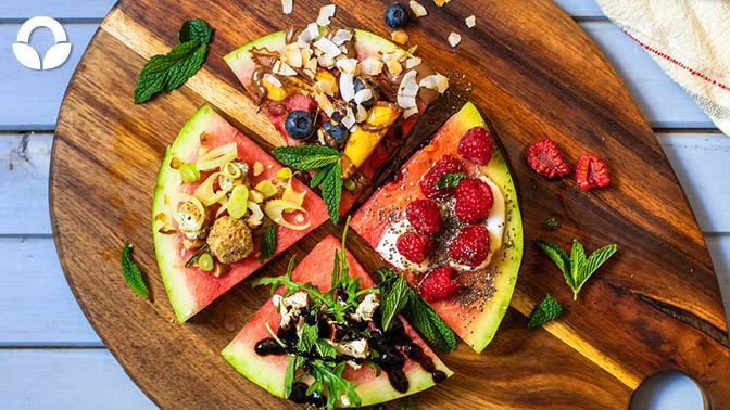 4 Ways with Watermelon Pizza