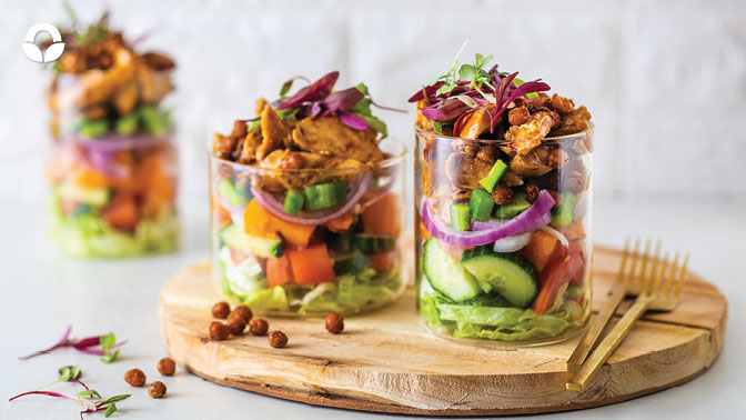 Crispy Chickpea Salad with BBQ Chicken