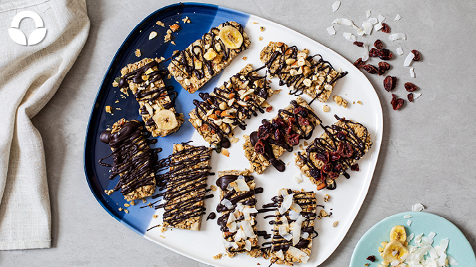 No Bake Oat Trail Mix Bars