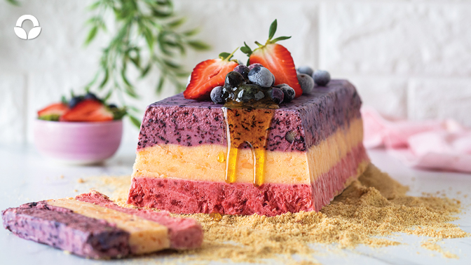 Fruity Frozen Yoghurt Terrine