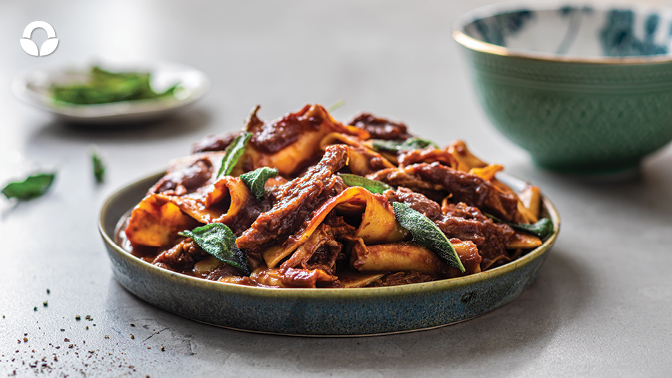 Pulled Pork Ragu with Homemade Pasta & Crispy Sage